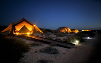 Picture of tents at night, Sal Salis Ningaloo Reef