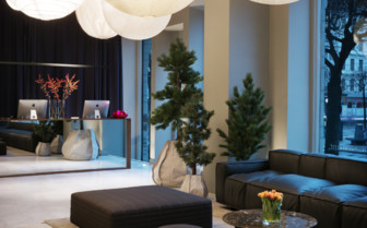 The lobby area at Nobis Hotel
