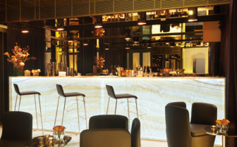 The bar area at the hotel