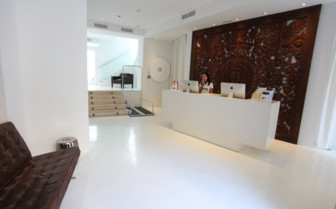 The entrance area at Puro, luxury hotel in Spain