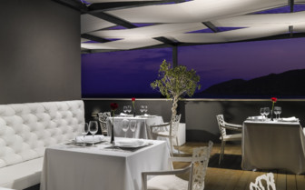 The dining area at the hotel terrace