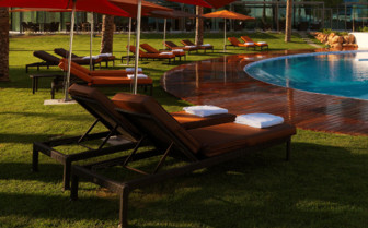 The swimming pool at Hotel Aguas de Ibiza