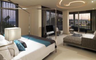 Large double bed suite at Hotel Aguas de Ibiza