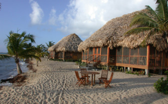 Picture of the beach front casitas at Turtle Inn