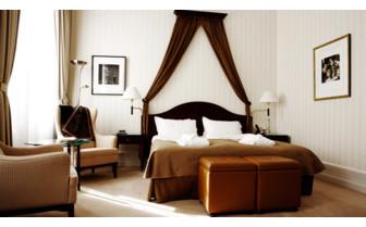 Luxury bedroom at Elite Plaza, luxury hotel in Sweden
