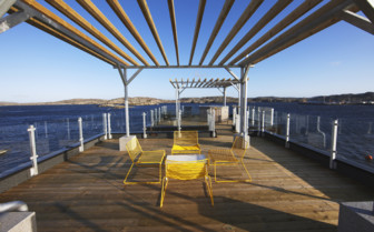 The hotel deck at Salt & Sill hotel