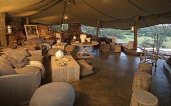 The lounge at Singita Faru Faru Lodge, luxury lodge in  Tanzania