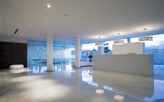 White interior design at SHA Wellness hotel