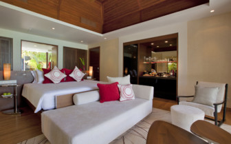 The beach studio at Niyama, luxury hotel in the Maldives