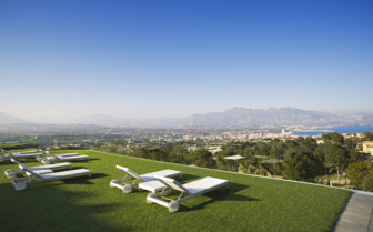 The rooftop sun terrace at SHA Wellness hotel, luxury hotel in Spain