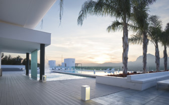 The outdoor pool area at SHA Wellness, luxury hotel in Spain