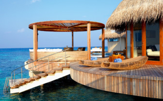 Exterior with ocean at W Retreat & Spa, luxury hotel in the Maldives