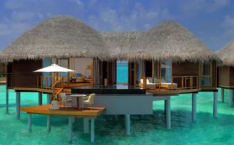 Water Villa at Constance Halaveli Resort, luxury hotel in the Maldives