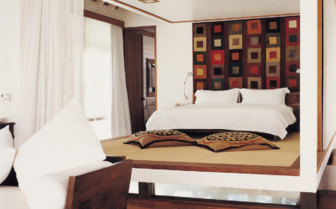 Double Bedroom at Cocoa Island, luxury hotel in the Maldives