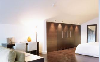 Double bed suite at Palau de la Mar hotel, luxury hotel in Spain