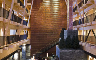 Interior design detail at the hotel