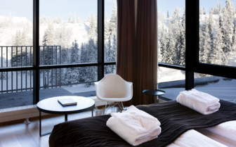 View from the suite at Copperhill Mountain Lodge, luxury hotel in Sweden