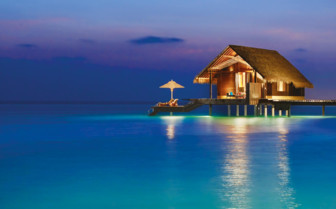 Water villa at Reethi Rah hotel
