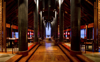 Interior at Reethi Rah hotel