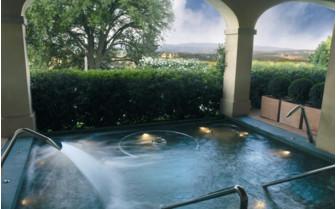 The spa pool at Castello Del Nero, luxury hotel in Italy