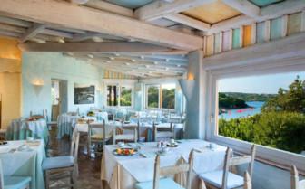 The restaurant terrace at Hotel Cervo
