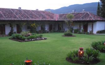 Garden exterior at the hotel