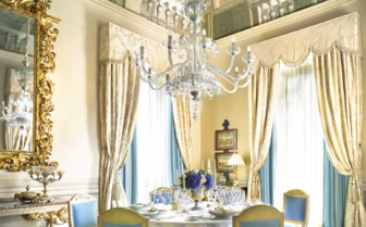 Dining room at the royal suite