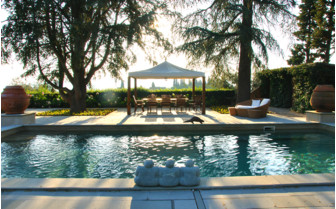 The swimming pool at Villa Mangiacane, luxury hotel in Italy