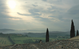 View from hotel room at Castello Del Nero