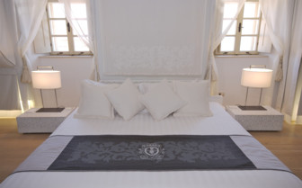 White double bedroom at Lesic Dimitri Palace