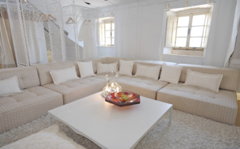 The sitting area at Lesic Dimitri Palace, luxury hotel in Croatia
