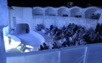 Globe theatre at Ice Hotel