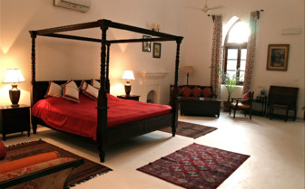 Luxury bedroom at Shapura Bagh hotel