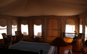 Bedroom Tent at Chhatra Sagar, luxury hotel in India
