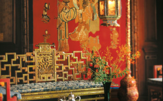 Oriental room detail at the hotel
