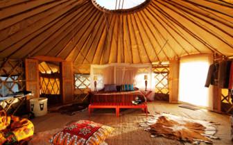 Colourful interior at Nduaro Loliondo
