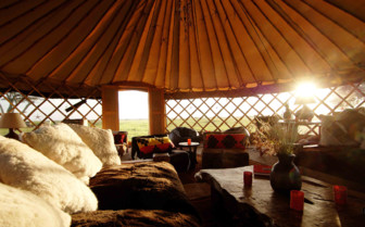 The lounge area at Nduaro Loliondo