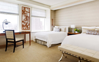 Large  bedroom at St. Regis San Francisco, luxury hotel in San Francisco