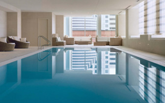 The indoor swimming pool at the hotel