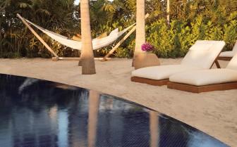 Sun loungers at The Modern Honolulu, luxury hotel in Hawaii
