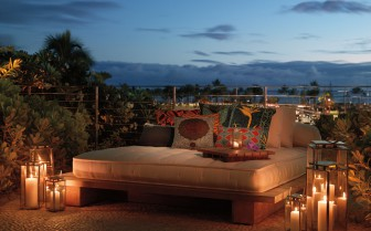 Sun lounger at The Modern Honolulu, luxury hotel in Hawaii