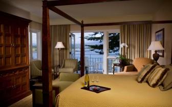 Bedroom with ocean view at Pebble Beach Resort