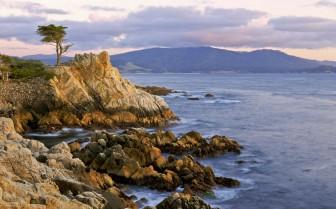 The stone coast at Pebble Beach Resort