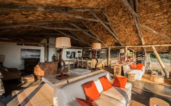 The lounge at Chem Chem, luxury lodge in Tanzania