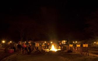 Bonfire at Olivers Camp