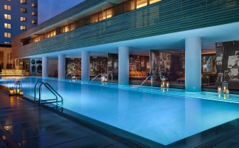 The pool at SLS Beach House, luxury hotel in Miami