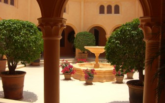 The inner courtyard at the hotel