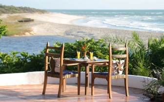 View from the terrace at Ras Katani, luxury hotel in Tanzania