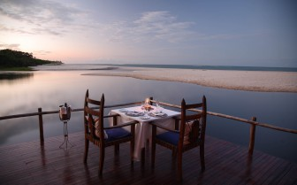 Private dining at the water