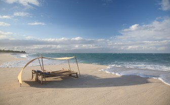 Sunlounger on the beach at Ras Kutani